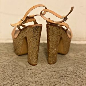 Steve Madden Platform Glitter Heels